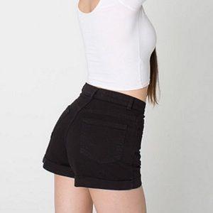 American Apparel high waist shorts black 24/25